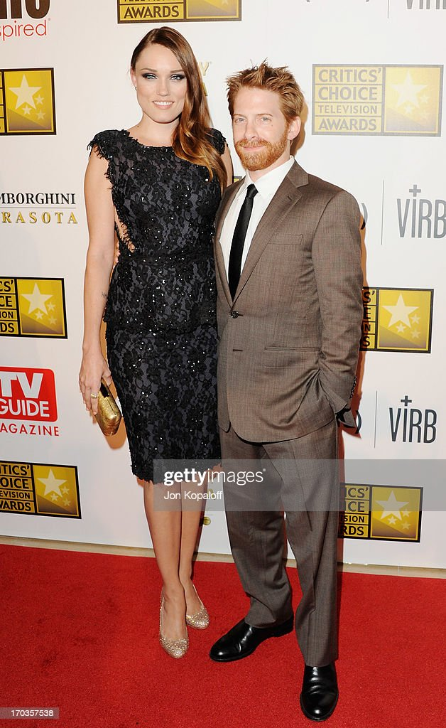 Actress Clare Grant and husband actor Seth Green arrive at the BTJA Critics' Choice Television Award at The Beverly Hilton Hotel on June 10, 2013 in Beverly Hills, California.