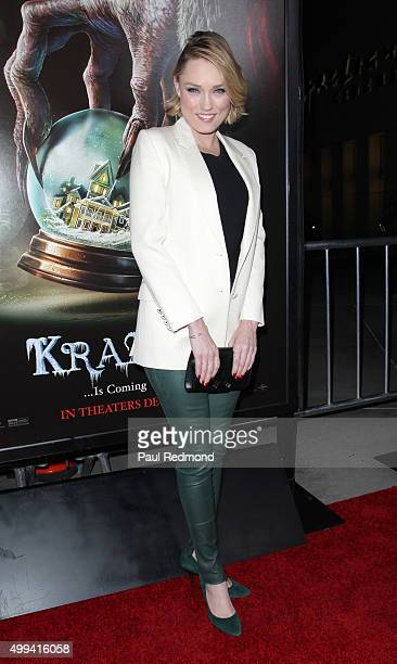 Actress Clare Grant arrives at the screening of Universal Pictures' 'Krampus' at ArcLight Cinemas on November 30 2015 in Hollywood California