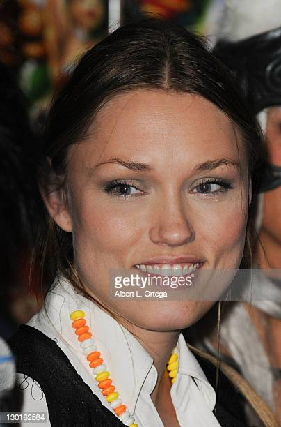 Actress Clare Grant as Han Solo particiaptes at a signing and costume conest For Team Unicorn At Golden Apple comic book store on October 21 2011 in...