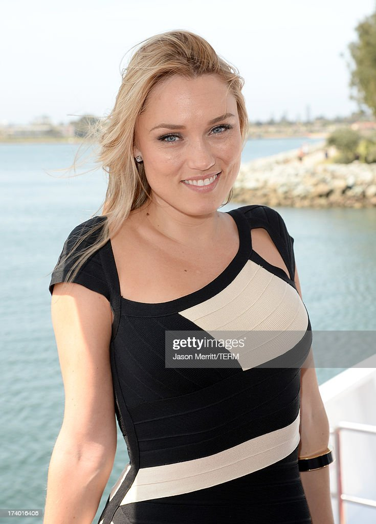 Actress Clare Grant attends the Nintendo Oasis on the TV Guide Magazine Yacht at Comic-Con day 1 on July 18, 2013 in San Diego, California.