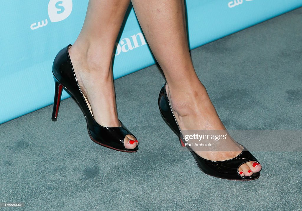 Actress Clare Grant (Shoe Detail) attends the premiere of 'Husbands' at The Paley Center for Media on August 14, 2013 in Beverly Hills, California.
