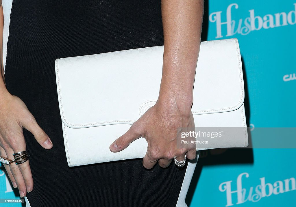 Actress Clare Grant (Handbag Detail) attends the premiere of 'Husbands' at The Paley Center for Media on August 14, 2013 in Beverly Hills, California.