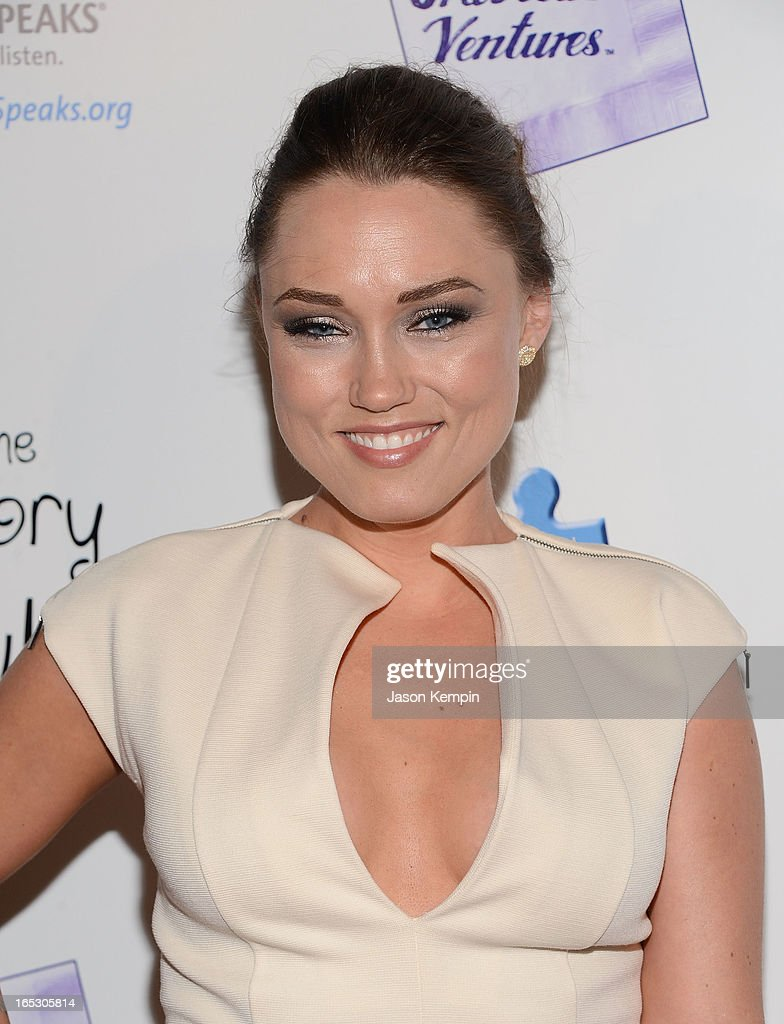 Actress Clare Grant attends 'The Story Of Luke' premiere at Laemmle Music Hall on April 2, 2013 in Beverly Hills, California.