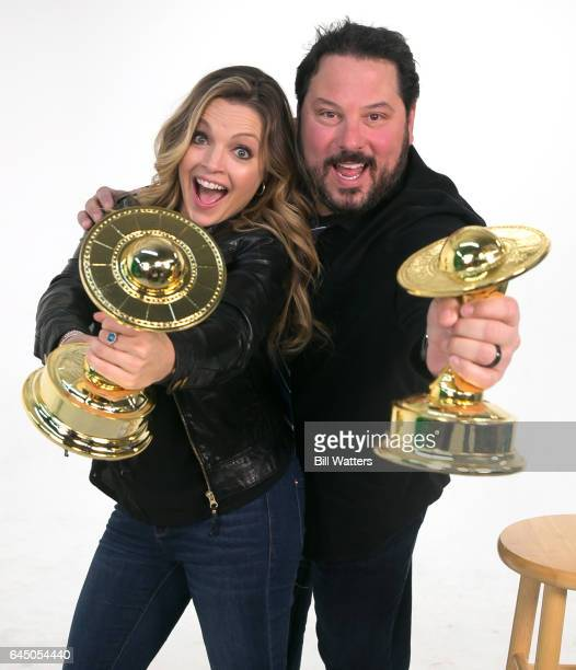Actress Clare Kramer and Greg Grunberg read movie nominees at the nominations for the 43rd annual Saturn Awards by The Academy of Science Fiction...