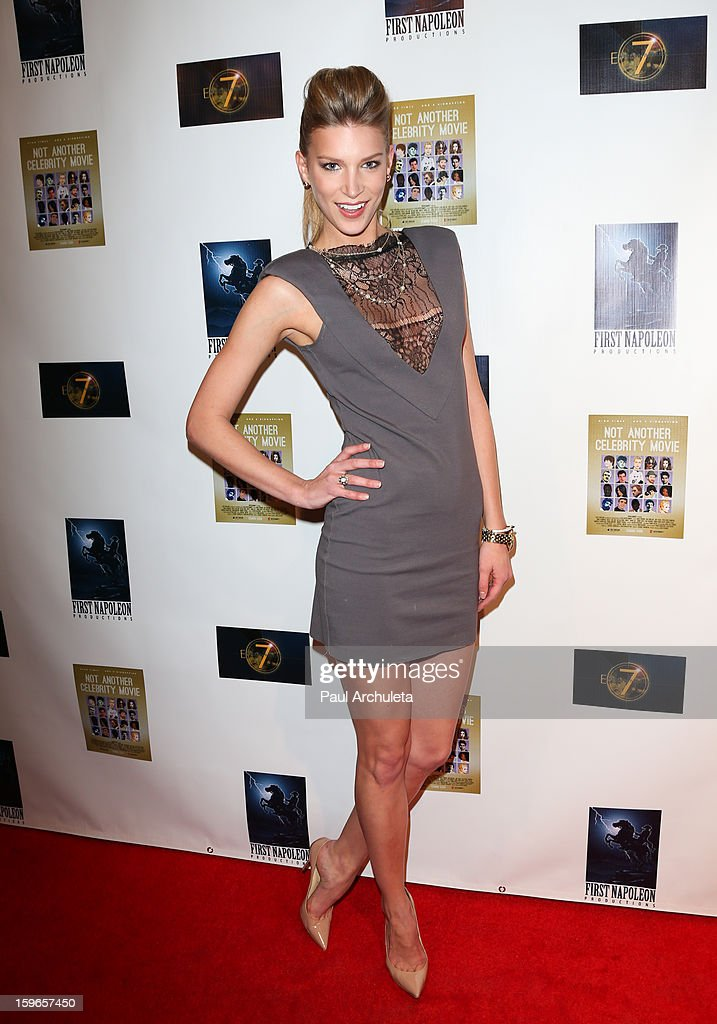 Actress Clark Gilmer attends the premiere for 'Not Another Celebrity Movie' at Pacific Design Center on January 17, 2013 in West Hollywood, California.