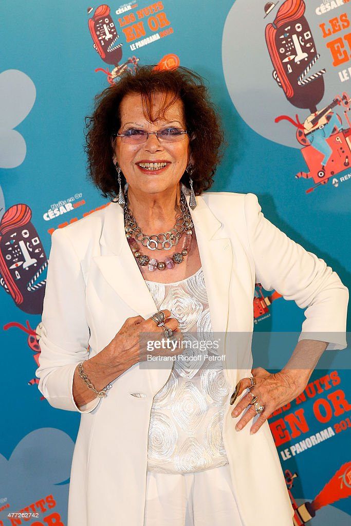 Actress <a gi-track='captionPersonalityLinkClicked' href=/galleries/search?phrase=Claudia+Cardinale&family=editorial&specificpeople=208838 ng-click='$event.stopPropagation()'>Claudia Cardinale</a> attends 'Les Nuits En Or 2015' Dinner at UNESCO on June 15, 2015 in Paris, France.