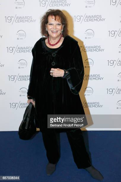 Actress Claudia Cardinale attends the '2017 L'Oreal UNESCO for Women in Science' 19th Awards Ceremony at Maison de la Mutualite on March 23 2017 in...
