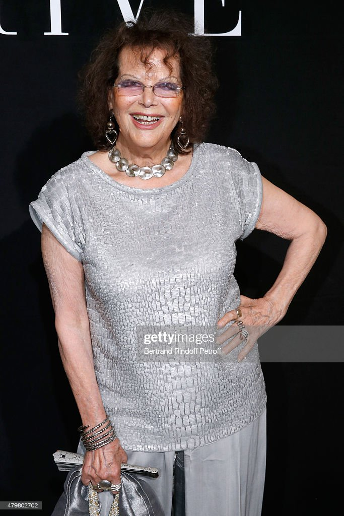 Actress <a gi-track='captionPersonalityLinkClicked' href=/galleries/search?phrase=Claudia+Cardinale&family=editorial&specificpeople=208838 ng-click='$event.stopPropagation()'>Claudia Cardinale</a> attends the Giorgio Armani Prive show as part of Paris Fashion Week Haute-Couture Fall/Winter 2015/2016. Held at Palais de Chaillot on July 7, 2015 in Paris, France.