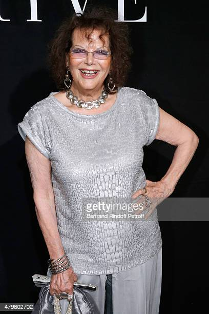 Actress Claudia Cardinale attends the Giorgio Armani Prive show as part of Paris Fashion Week HauteCouture Fall/Winter 2015/2016 Held at Palais de...