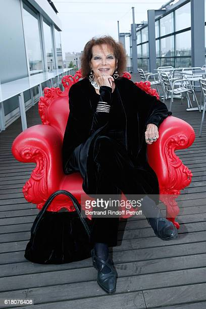 Actress Claudia Cardinale attends the Japenese Artist Takeshi Kitano receives the French Legion of Honor By Jack Lang at Fondation Cartier on October...