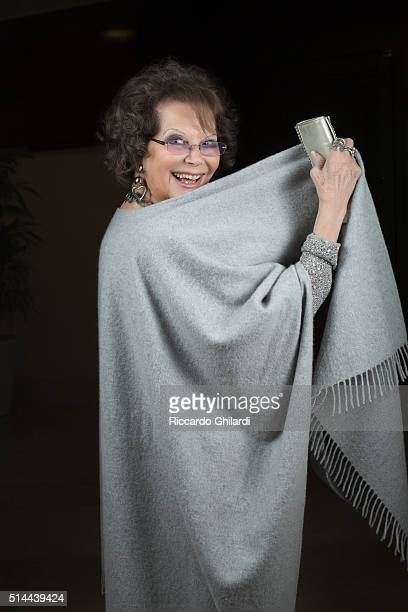 Actress Claudia Cardinale is photographed for Self Assignment on March 5 2016 in MonteCarlo Monaco