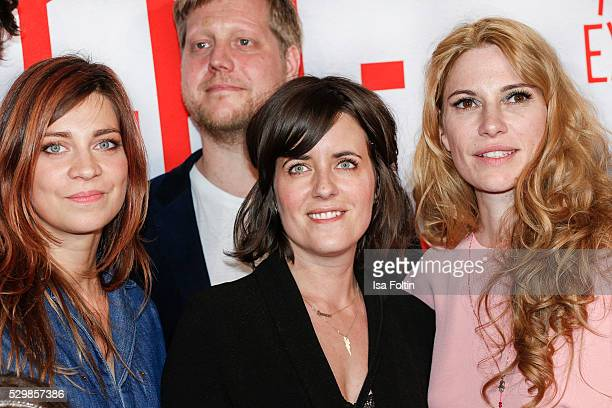 Actress Claudia Eisinger actor Christoph Letkowski autor Sarah Kuttner and producer Laura Lackmann attend the German premiere of the film...