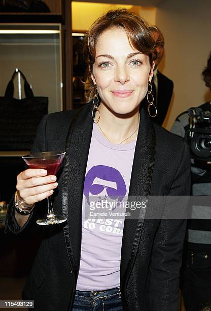 Actress Claudia Gerini attends Fay flagship store opening at Via Fontanella Borghese on October 28 2008 in Rome Italy