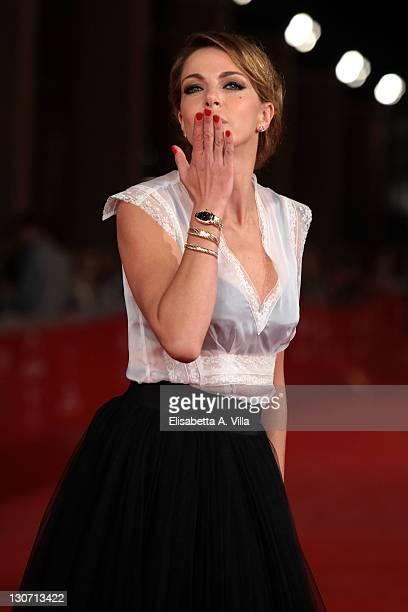 Actress Claudia Gerini attends the 'Il Mio Domani' Premiere during the 6th International Rome Film Festival at Auditorium Parco Della Musica on...