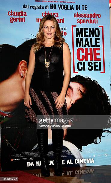 Actress Claudia Gerini attends the 'Meno Male Che Ci Sei' Milan Photocall on November 26 2009 in Milan Italy