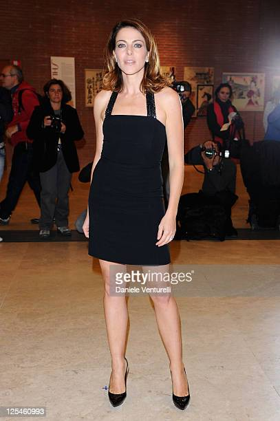 Actress Claudia Gerini attends the 'Portrait Of My Father' premiere during The 5th International Rome Film Festival at Auditorium Parco Della Musica...