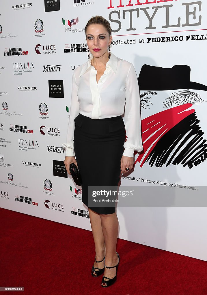 Actress Claudia Gerini attends the premiere of 'The Great Beauty' at the Cinema Italian Style 2013 Opening Night at the Egyptian Theatre on November 14, 2013 in Hollywood, California.
