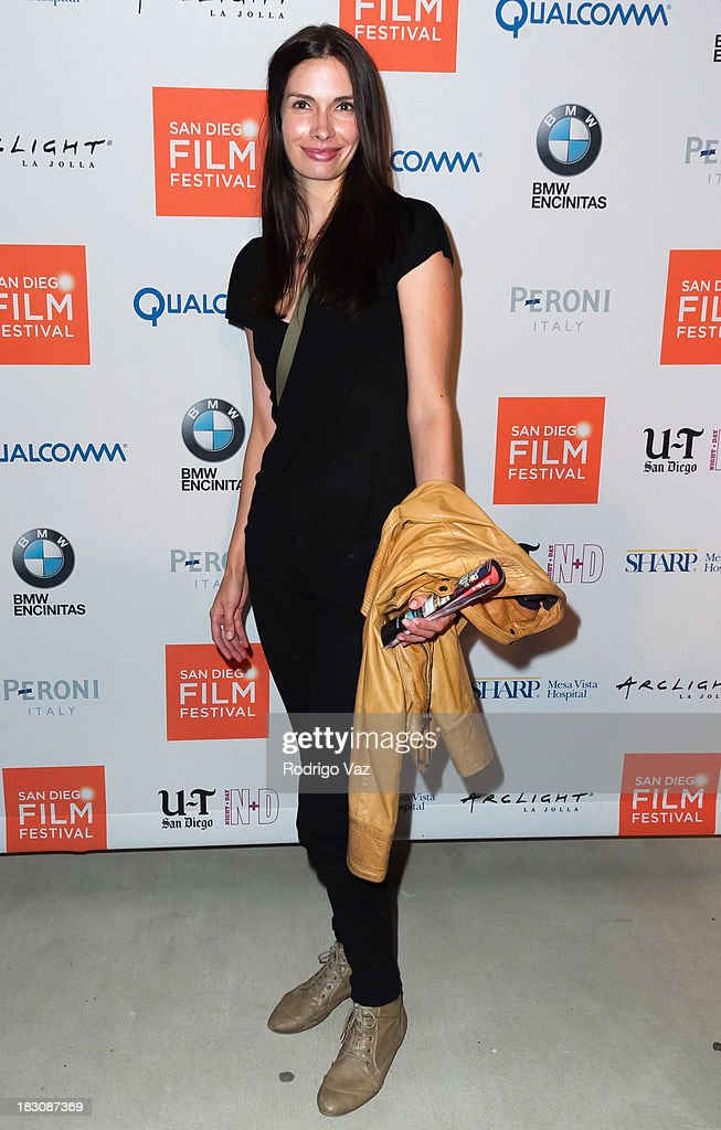 Actress Claudia Graf arrives at San Diego Film Festival's tribute to honor <a gi-track='captionPersonalityLinkClicked' href=/galleries/search?phrase=Judd+Apatow&family=editorial&specificpeople=854225 ng-click='$event.stopPropagation()'>Judd Apatow</a> at Museum of Contemporary Art on October 3, 2013 in La Jolla, California.