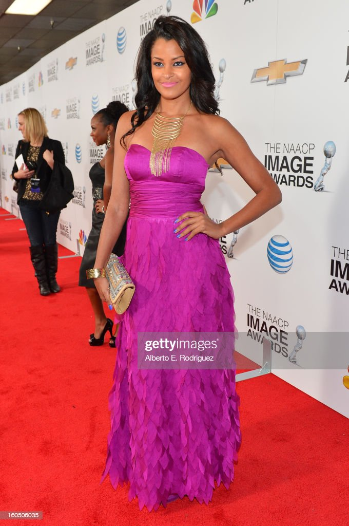 Actress Claudia Jordan attends the 44th NAACP Image Awards at The Shrine Auditorium on February 1, 2013 in Los Angeles, California.