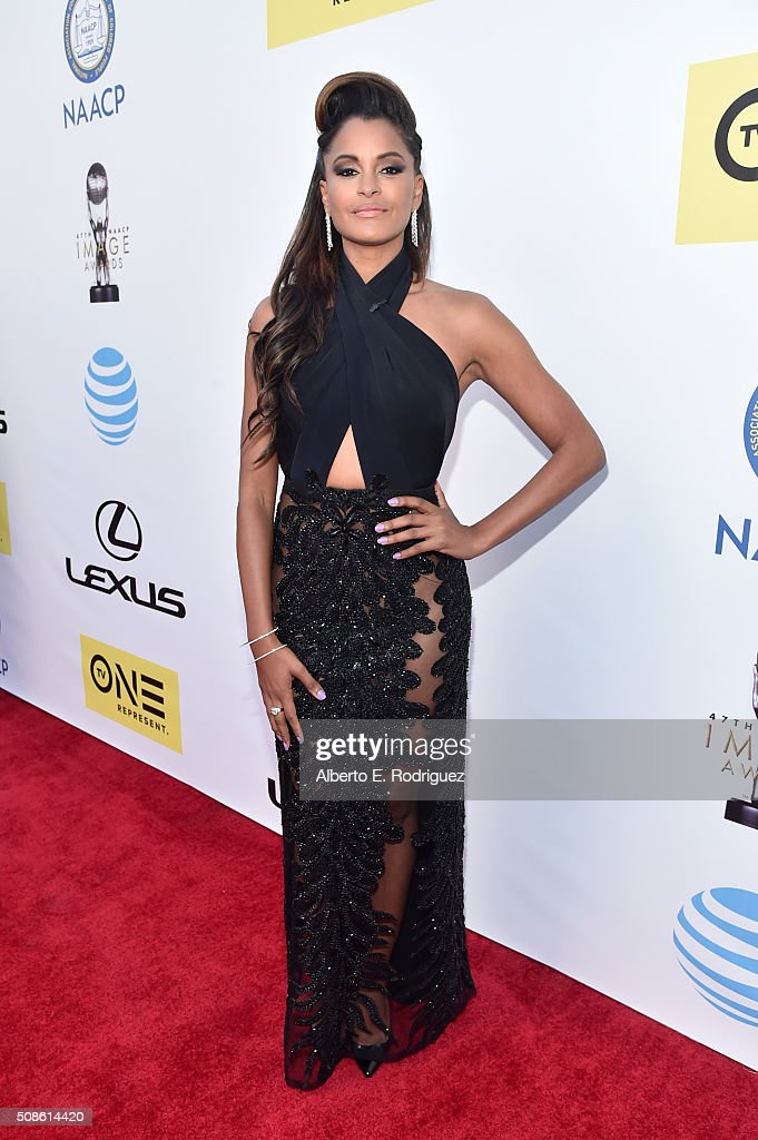Actress <a gi-track='captionPersonalityLinkClicked' href=/galleries/search?phrase=Claudia+Jordan&family=editorial&specificpeople=702294 ng-click='$event.stopPropagation()'>Claudia Jordan</a> attends the 47th NAACP Image Awards presented by TV One at Pasadena Civic Auditorium on February 5, 2016 in Pasadena, California.