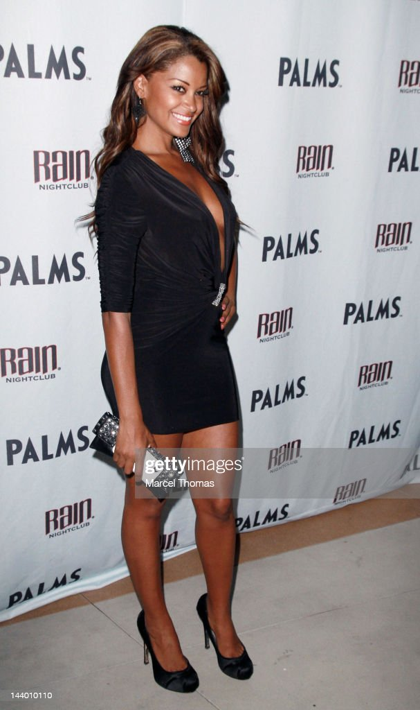Actress <a gi-track='captionPersonalityLinkClicked' href=/galleries/search?phrase=Claudia+Jordan&family=editorial&specificpeople=702294 ng-click='$event.stopPropagation()'>Claudia Jordan</a> attends the Mayweather/Cotto after-fight party at Rain Nightclub on May 5, 2012 in Las Vegas, Nevada.