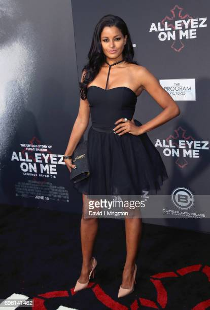 Actress Claudia Jordan attends the premiere of Lionsgate's 'All Eyez On Me' on June 14 2017 in Los Angeles California