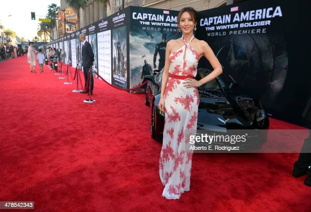 Actress Claudia Kim attends Marvel's 'Captain America The Winter Soldier' premiere at the El Capitan Theatre on March 13 2014 in Hollywood California