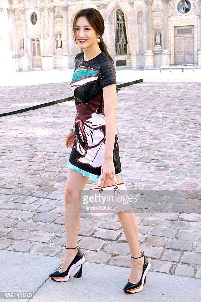 Actress Claudia Kim attends the Christian Dior show as part of the Paris Fashion Week Womenswear Spring/Summer 2015 on September 26 2014 in Paris...
