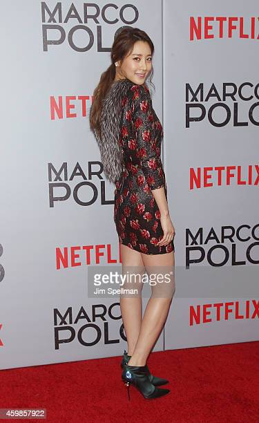 Actress Claudia Kim attends the 'Marco Polo' New York series premiere at AMC Lincoln Square Theater on December 2 2014 in New York City