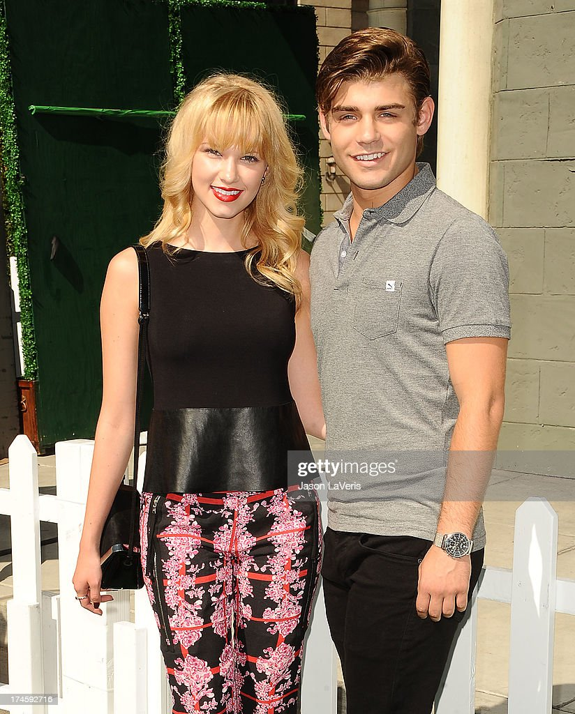 Actress <a gi-track='captionPersonalityLinkClicked' href=/galleries/search?phrase=Claudia+Lee&family=editorial&specificpeople=6786306 ng-click='$event.stopPropagation()'>Claudia Lee</a> and actor Garrett Clayton attend Variety's 7th annual Power of Youth event at Universal Studios Hollywood on July 27, 2013 in Universal City, California.