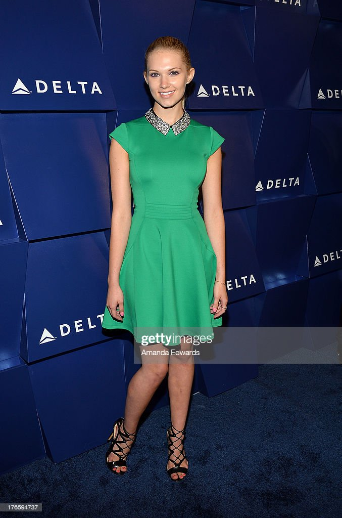 Actress <a gi-track='captionPersonalityLinkClicked' href=/galleries/search?phrase=Claudia+Lee&family=editorial&specificpeople=6786306 ng-click='$event.stopPropagation()'>Claudia Lee</a> arrives at the Delta Air Lines Summer Celebration at Beverly Grove Drive on August 15, 2013 in Beverly Hills, California.