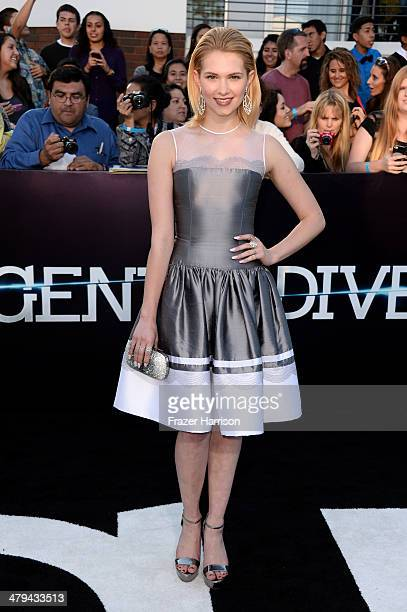 Actress Claudia Lee arrives at the premiere of Summit Entertainment's 'Divergent' at the Regency Bruin Theatre on March 18 2014 in Los Angeles...