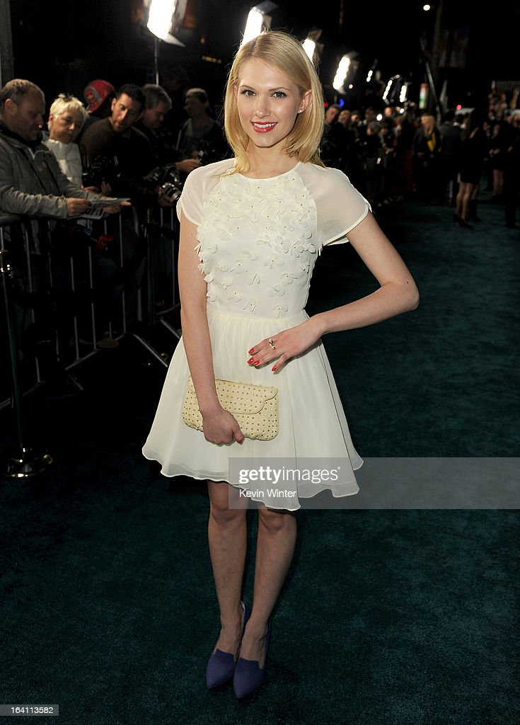 Actress Claudia Lee attends the premiere of Open Road Films 'The Host' at ArcLight Cinemas Cinerama Dome on March 19, 2013 in Hollywood, California.