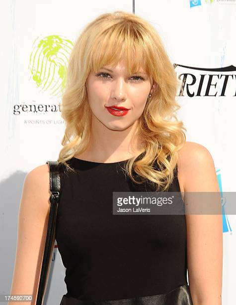 Actress Claudia Lee attends Variety's 7th annual Power of Youth event at Universal Studios Hollywood on July 27 2013 in Universal City California