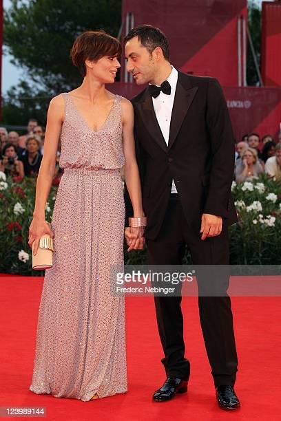 Actress Claudia Pandolfi and actor Filippo Timi attend the 'Quando La Notte' premiere during the 68th Venice Film Festival at Palazzo del Cinema on...