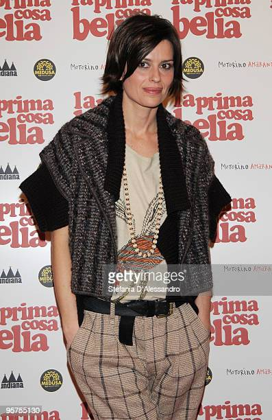Actress Claudia Pandolfi attends 'La Prima Cosa Bella' Premiere on January 13 2010 in Milan Italy