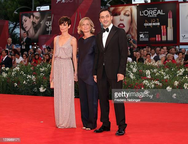 Actress Claudia Pandolfi director Cristina Comencini and actor Filippo Timi attend the 'Quando La Notte' premiere during the 68th Venice Film...
