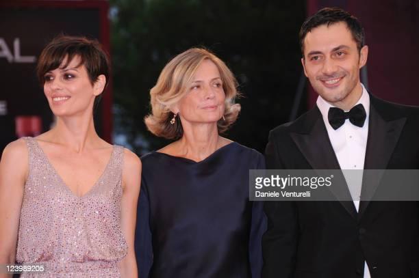 Actress Claudia Pandolfi director Cristina Comencini and actor Filippo Timi attend the 'Quando la notte' Premiere during the 68th Venice...