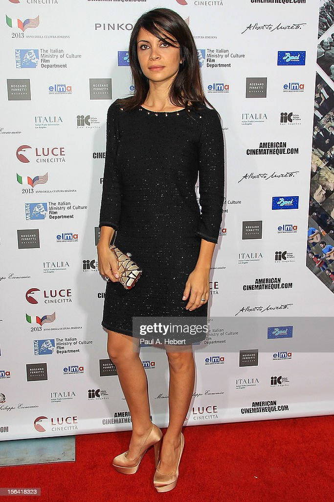 Actress Claudia Potenza arrives to the 2012 Cinema Italian Style Opening Night Gala Screening Of 'Caesar Must Die' at the Egyptian Theatre on November 14, 2012 in Hollywood, California.