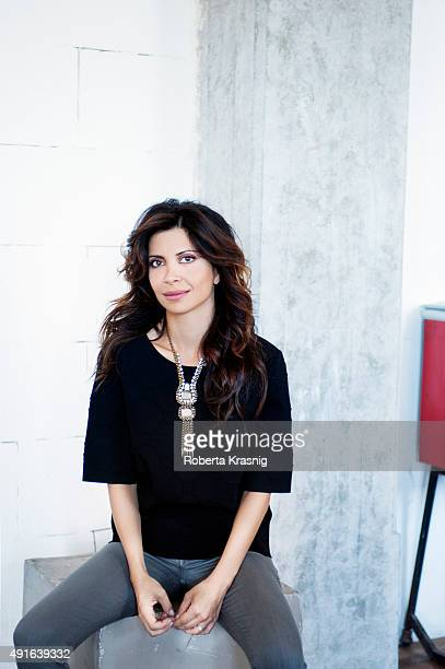 Actress Claudia Potenza is photographed for Self Assignment on July 31 2013 in Rome Italy