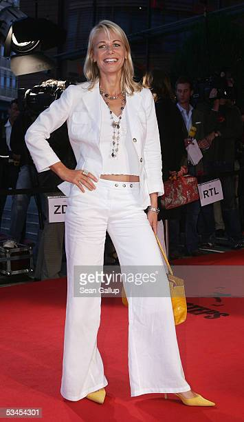 Actress Claudine Wilde arrives for the First Steps 2005 Awards at the Theater am Potsdamer Platz August 23 2005 in Berlin Germany