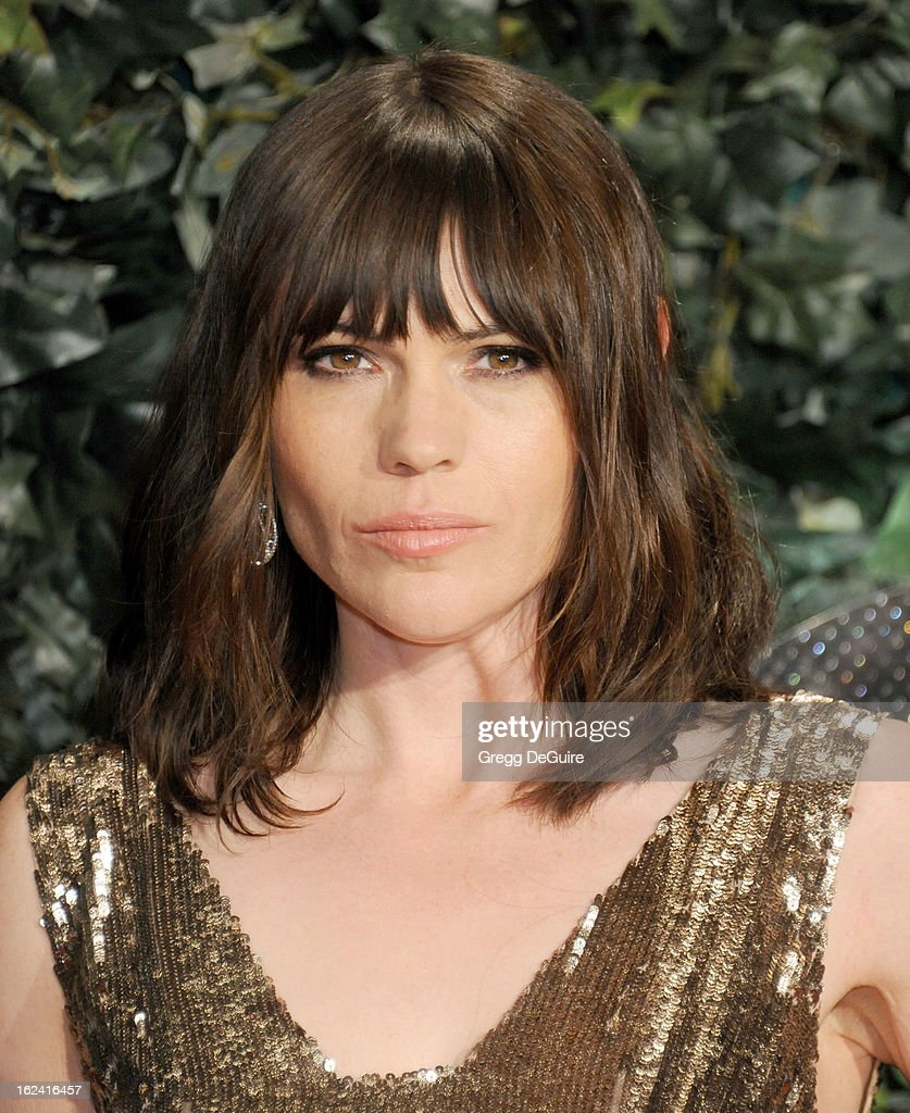 Actress Clea DuVall arrives at the QVC 'Red Carpet Style' party at Four Seasons Hotel Los Angeles at Beverly Hills on February 22, 2013 in Beverly Hills, California.