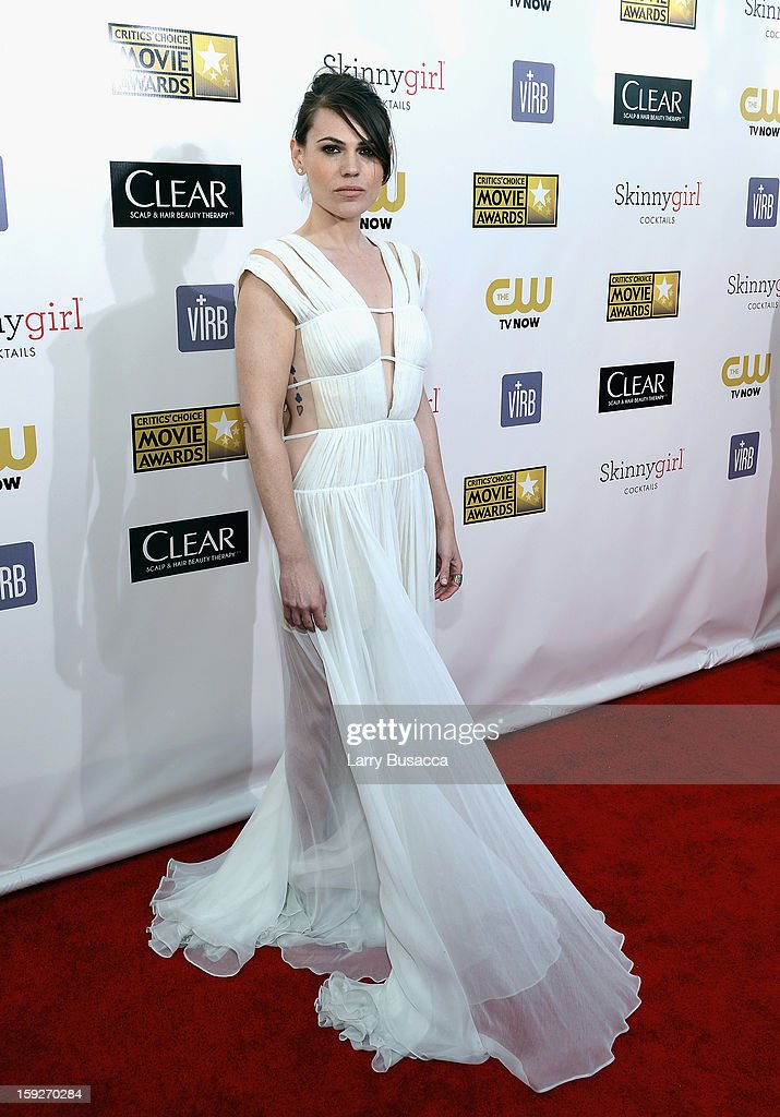 Actress Clea Duvall attends the 18th Annual Critics' Choice Movie Awards held at Barker Hangar on January 10, 2013 in Santa Monica, California.