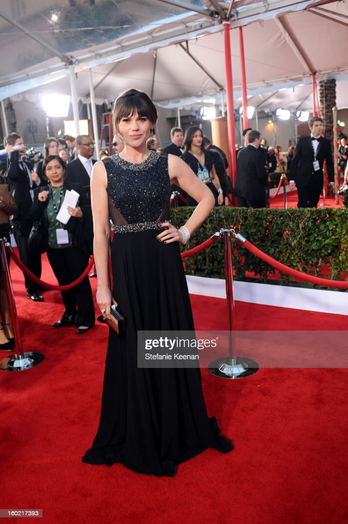 Actress Clea DuVall attends the 19th Annual Screen Actors Guild Awards at The Shrine Auditorium on January 27, 2013 in Los Angeles, California. (Photo by Stefanie Keenan/WireImage) 23116_025_1808.JPG