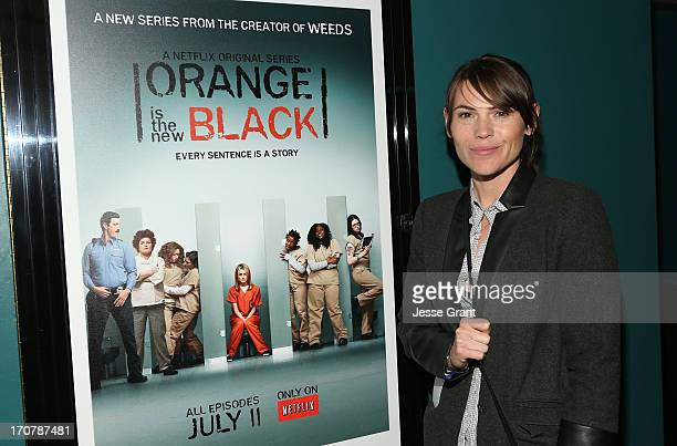 Actress Clea DuVall attends the Netflix Presents 'Orange Is The New Black' Special Screening at AMC Loews Broadway 4 on June 17 2013 in Santa Monica...