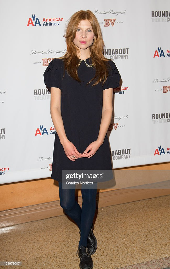 Actress <a gi-track='captionPersonalityLinkClicked' href=/galleries/search?phrase=Clemence+Poesy&family=editorial&specificpeople=765034 ng-click='$event.stopPropagation()'>Clemence Poesy</a> attends 'Cyrano De Bergerac' Broadway Opening Night After Party at American Airlines Theatre on October 11, 2012 in New York City.