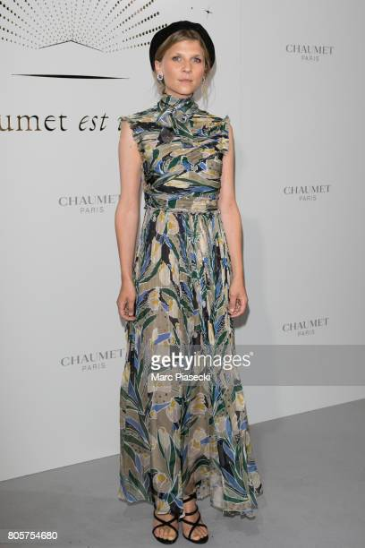 Actress Clemence Poesy attends the 'Chaumet Est Une Fete' Haute Joaillerie Collection Launch as part of Haute Couture Paris Fashion Week on July 2...