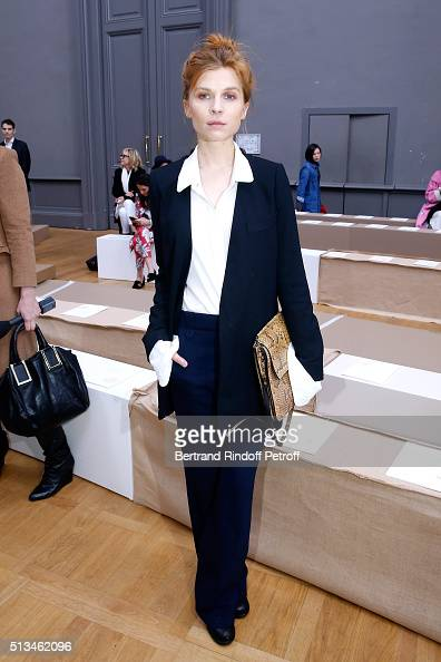 Actress Clemence Poesy attends the Chloe show as part of the Paris Fashion Week Womenswear Fall/Winter 2016/2017 Held at Grand Palais on March 3 2016...