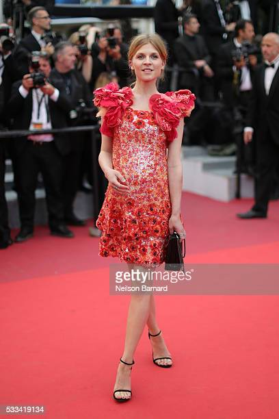 Actress Clemence Poesy attends the closing ceremony of the 69th annual Cannes Film Festival at the Palais des Festivals on May 22 2016 in Cannes...