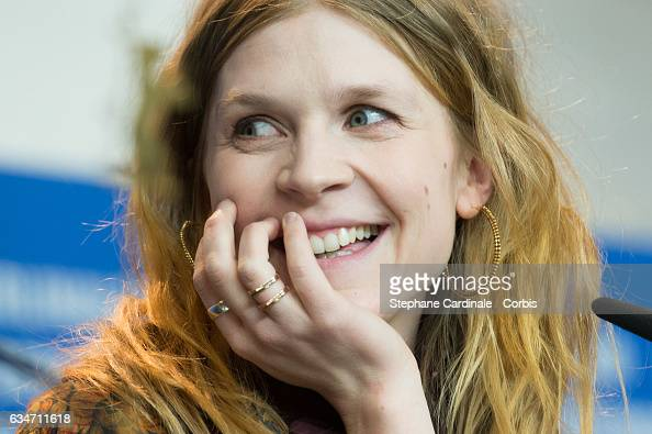 Actress Clemence Poesy attends the 'Final Portrait' press conference during the 67th Berlinale International Film Festival Berlin at Grand Hyatt...